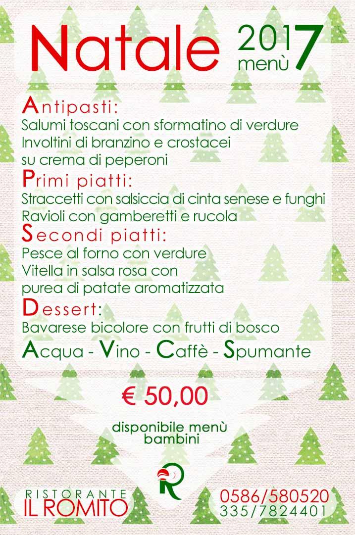 Menu Di Natale Di Terra.Pranzo Di Natale 2017 Al Ristorante Romito Di Livorno Menu